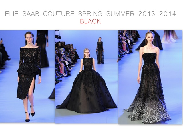 Elie Saab Spring Summer 2014 couture - black white and black - created by Chic n Cheap Living