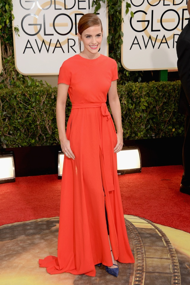Golden Globes 2014 Emma Watson in Dior - saved by Chic n Cheap Living