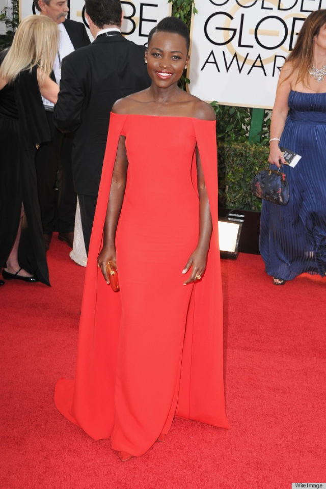Golden Globes 2014 Lupita Nyong'o in Ralph Lauren - saved by Chic n Cheap Living