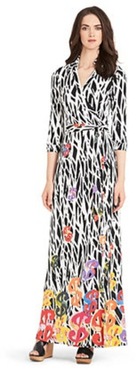 Pop Wrap DVF Abigal in dollar twiggs multi print dress - saved by Chic n Cheap Living
