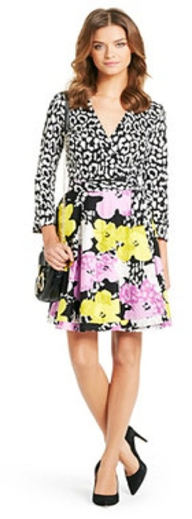 Dvf Amelia Wrap Dress Pop Wrap DVF Amelia silk