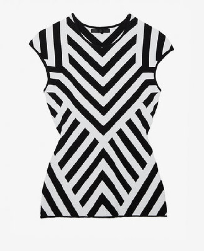 RVN Exclusive chevron pattern sleeve knit - saved by Chic n Cheap Living