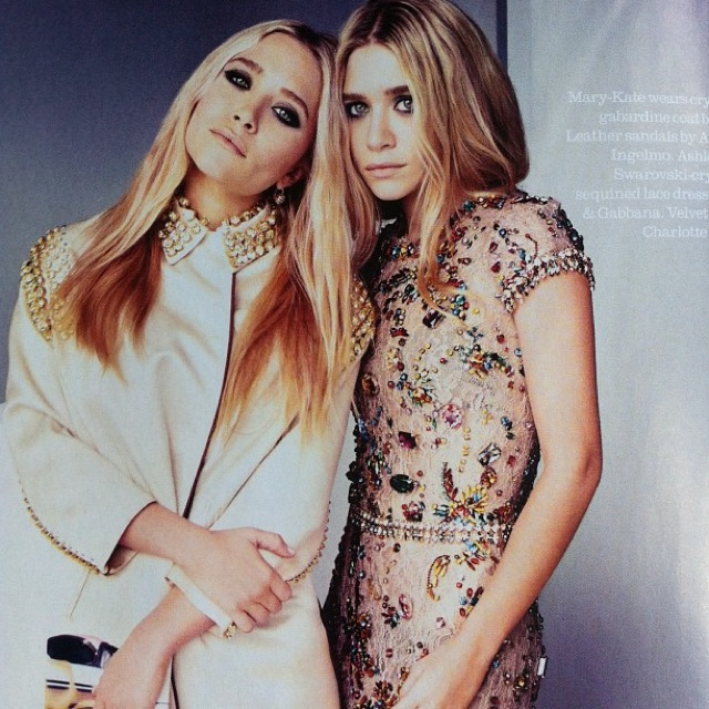 blush Mary Kate and Ashley Olsen UK Elle April 2012-saved by Chic n Cheap Living
