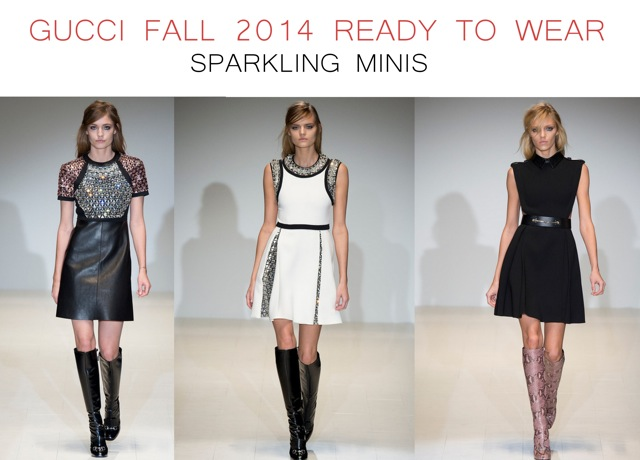 Gucci Fall 2014 Ready to Wear Sparkling minis - by Chic n Cheap Living
