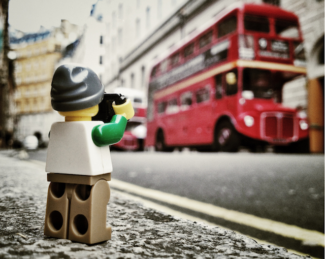 The-Legographer by Andrew White London bus - saved by Chic n Cheap Living