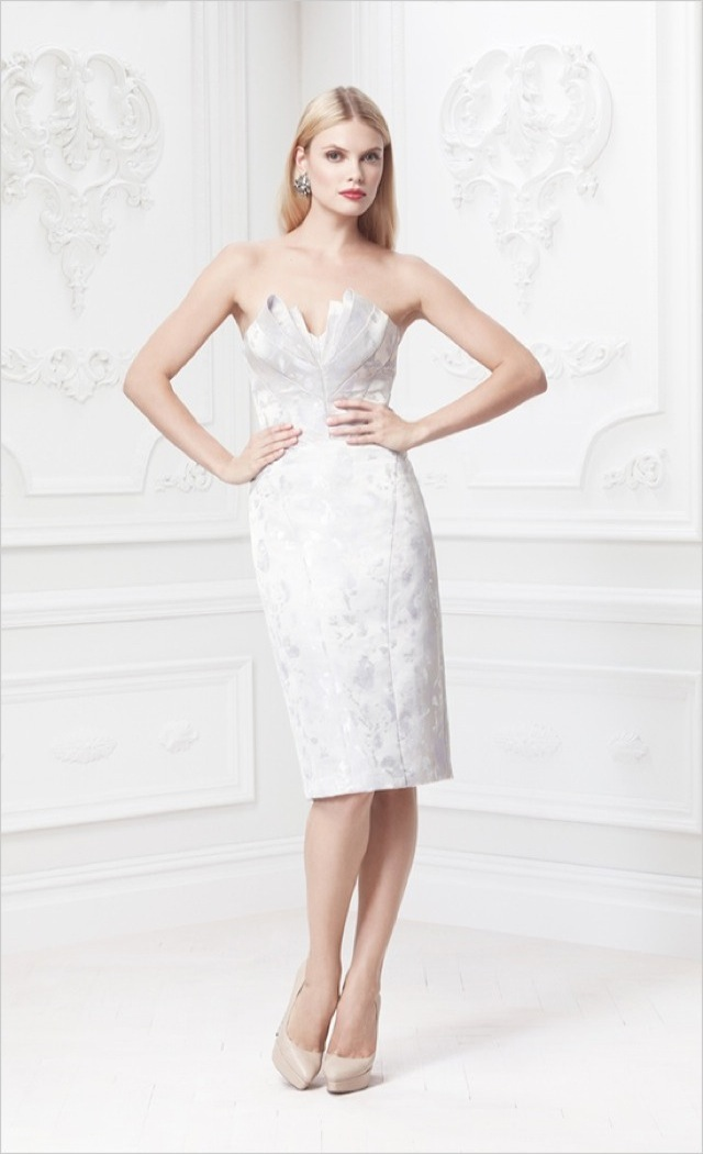 d3af1dc10ee Truly Zac Posen strapless floral jacquard gown – saved by Chic n Cheap  Living