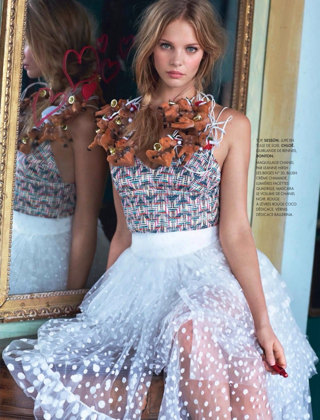 Youth Elle France December 2013 with Chloe dress - saved by Chic n Cheap Living