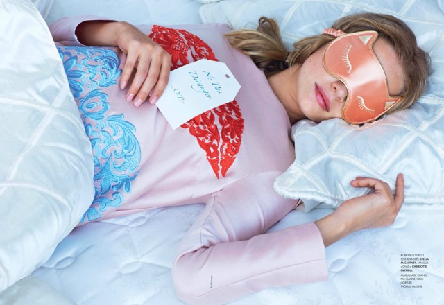 Youth Elle France December 2013 with Stella McCartney top and Charlotte Olympia mask - saved by Chic n Cheap Living