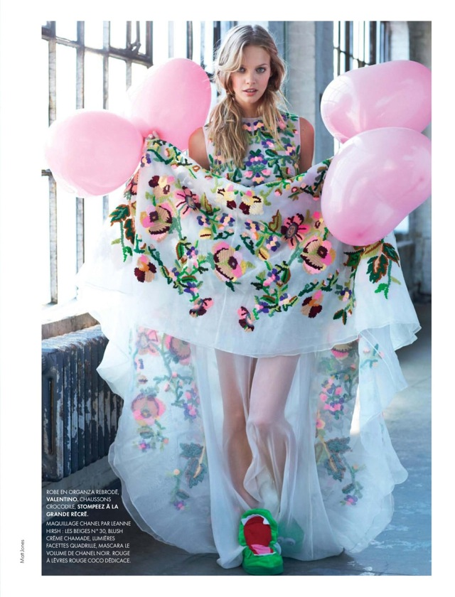 Youth Elle France December 2013 with Valentino dress - saved by Chic n Cheap Living