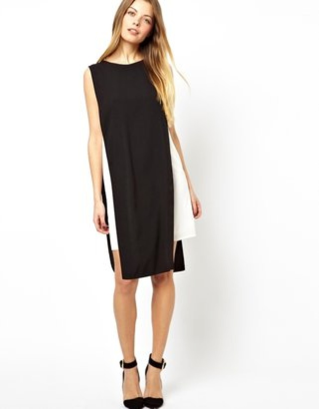 ASOS contrast mini tabbard dress - saved by Chic n Cheap Living