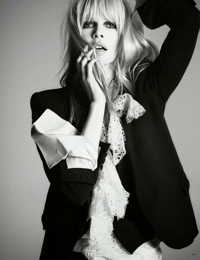Classic Claudia Schiffer Vogue Germany April 2014 CELINE blazer - saved by Chic n Cheap Living