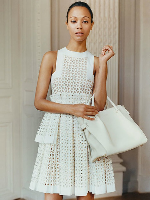 Zoe Saldana Alexander McQueen dress and Alessandra Rich on the Edit - saved by Chic n Cheap Living