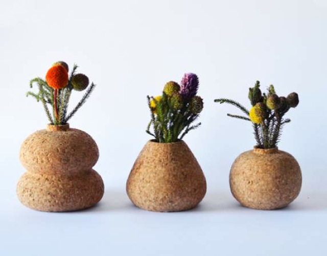 Cork planter from Nelanie Abrantes Design