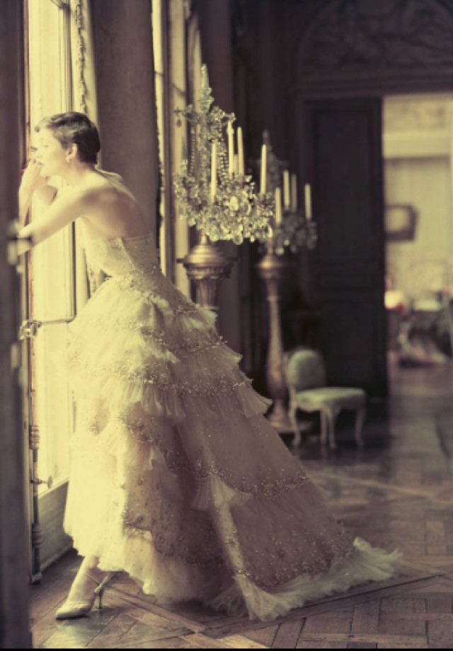 Dior shot by Norman Parkinson Spring summer 1950 - saved by Chic n Cheap Living