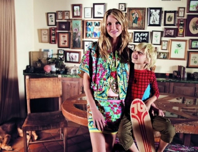 Friends Marie Claire Italy January 2014 - Angela Lindvall with kid in costume - saved by Chic n Cheap Living