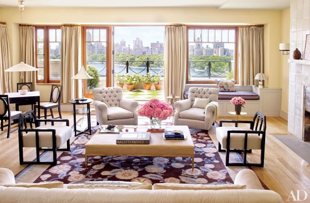 Bette Midler living room Architectural Digest - saved by little luxury list