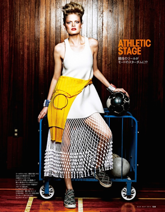 Sporty Mode volleyball Elle Japan May 2014