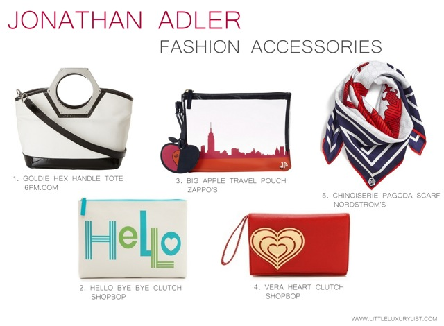 Jonathan Adler fashion accessories by little luxury list