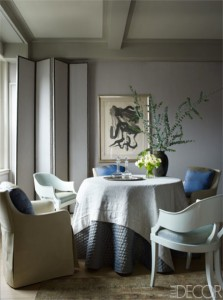 NYC Tina and Jeffrey Bolton Townhouse dining room by John Saladino on Elle Decor Harper's Bazaar Thailand Jan 2014 - saved by Chic n Cheap Living