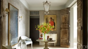 NYC Tina and Jeffrey Bolton Townhouse gray room by John Saladino on Elle Decor - saved by Chic n Cheap Living