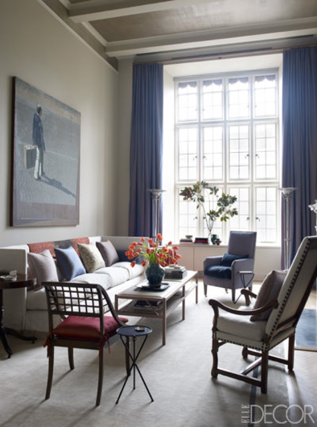 NYC Tina And Jeffrey Bolton Townhouse Living Room By John Saladino On Elle  Decor U2013 Saved By Chic N Cheap Living