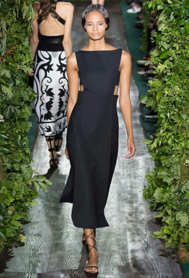 Valentino Fall 2014 couture black midi dress