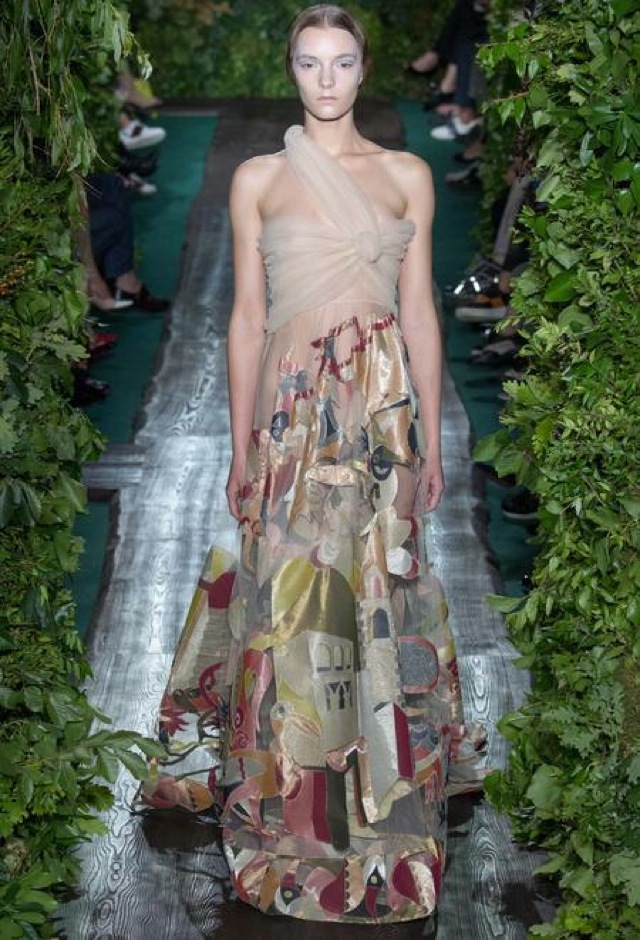 Valentino Fall 2014 couture silk floral gown
