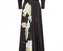 Altuzarra for Target orchid print satin jersey maxi dress