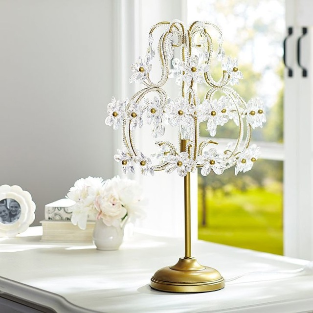 Popular Emily Meritt Sequin Sequin Chandelier table lamp