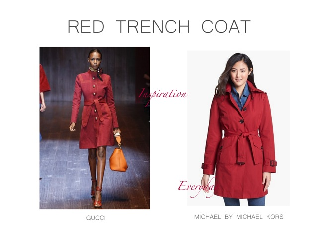 285cbfbbec25 Gucci Spring Summer 2015 Red Trench Coat Inspiration - little luxury ...