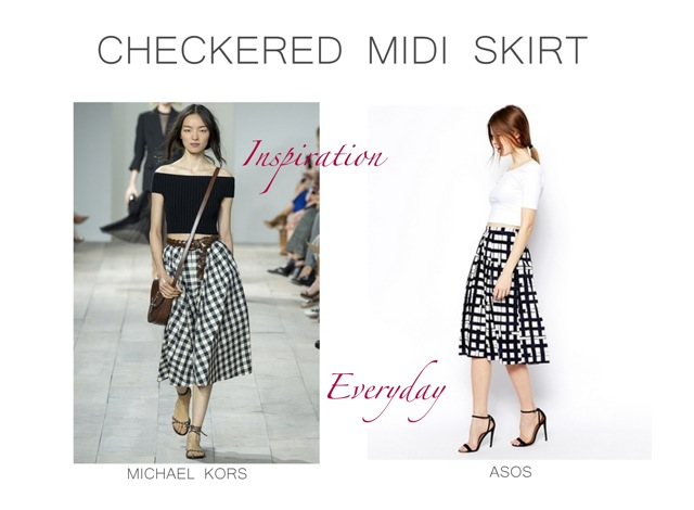 Michael Kors Checkered midi skirt inspiration Spring Summer 2015 ...