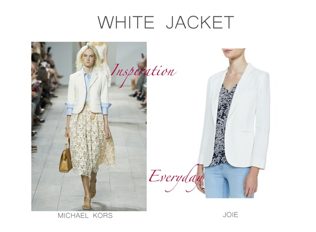 Michael Kors white jacket inspiration Spring Summer 2015