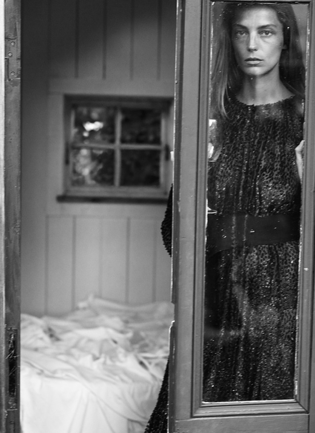 Vulnerable daria_werbowy at window in Interview Magazine September 2014