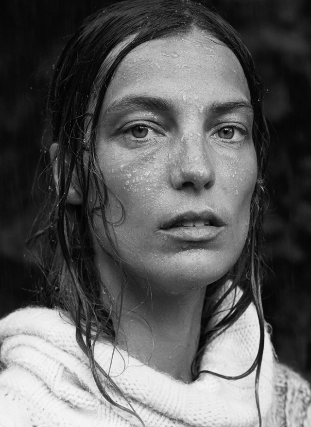 Vulnerable daria_werbowy wet face in Interview Magazine September 2014