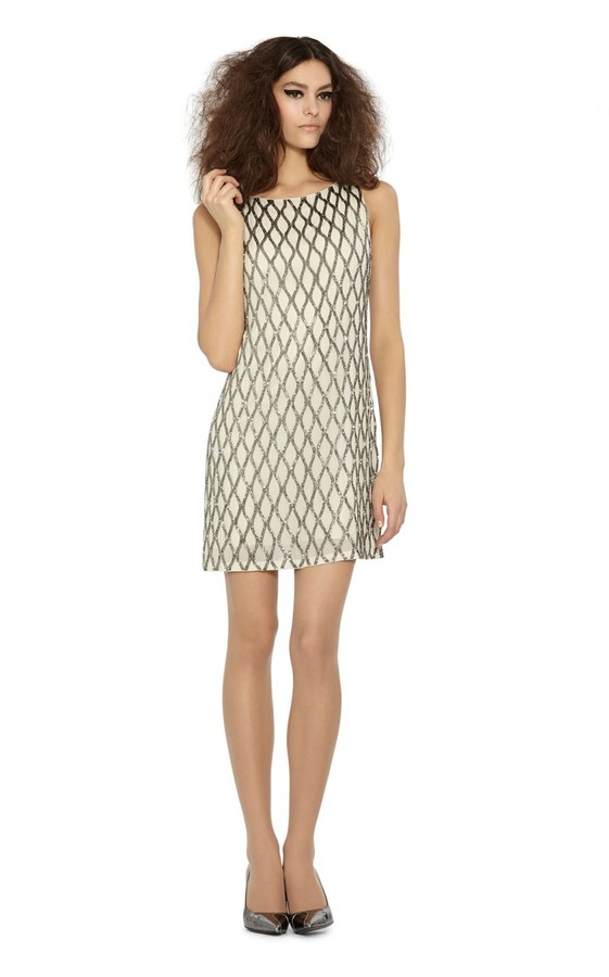 Alice and Olivia Dalyla Beaded dress
