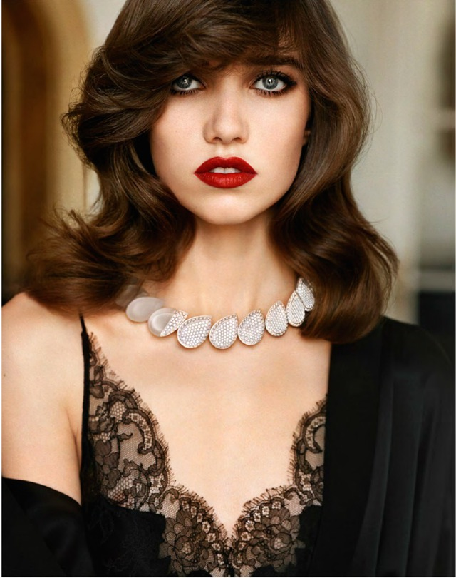 Grace Vogue Paris October 2014 Boucheron necklace