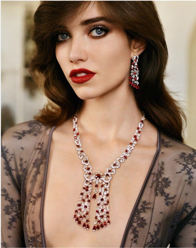 Grace Vogue Paris October 2014 Graff Diamonds necklace