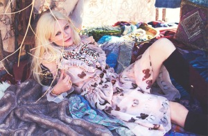 Kirsten Dunst for the Edit butterfly dress