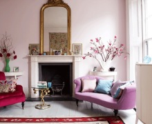 Orchid and pink Modern-Living-Room---Livingetc-photo by Jake Curtis - saved by little luxury list
