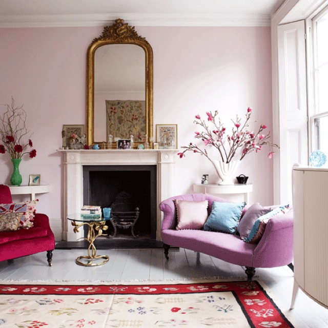 Orchid And Pink Modern Living Room Livingetc Photo By Jake