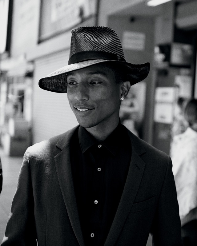 Pharrell Williams in fedora for WSJ Magazine September 2014 - little ... ff20ab4dd27