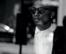 Pharrell Williams in sunglasses for WSJ Magazine September 2014