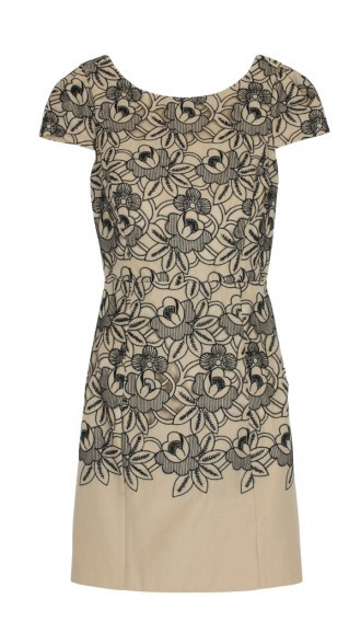 Tibi Embroidery eyelet dress
