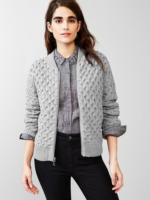 Knitting Pattern Bomber Jacket : Cable knit bomber jacket - little luxury list