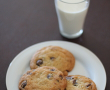 Chocolate chip cookies with milk by little luxury list