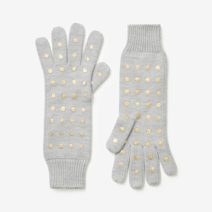 Saturday gold dot gloves