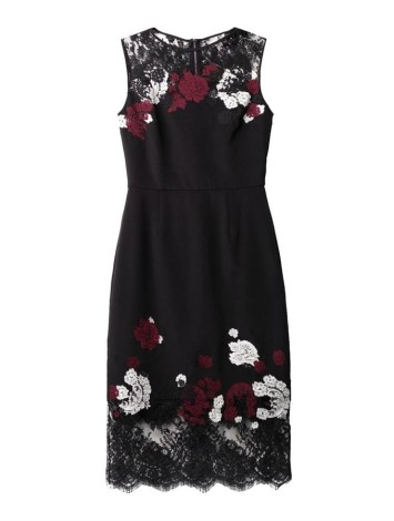 Erdem Kent floral lace satin dress