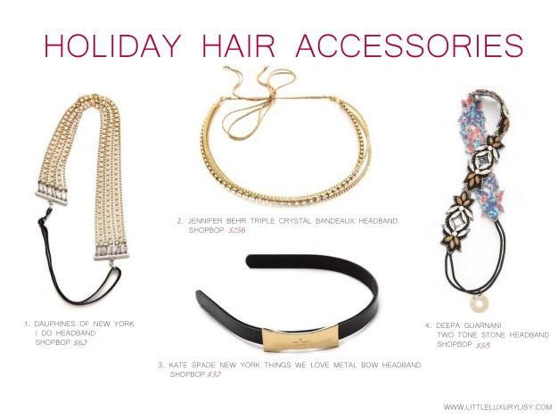 Holiday hair accessories at Shopbop by little luxury list