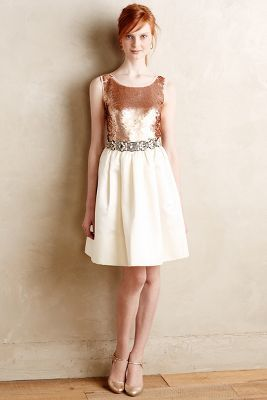 Anthropologie paper crown sequin dress
