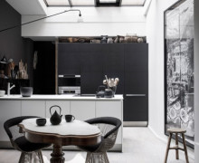 Black and gray Maison Hand design kitchen- saved by little luxury list